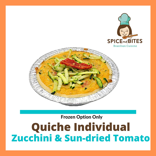 Zucchini & Sun-dried Tomato Quiche