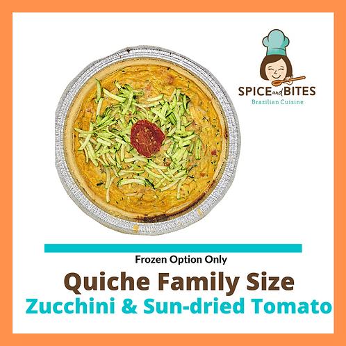 Quiche Family Size - Zucchini and Sun-dried Tomato