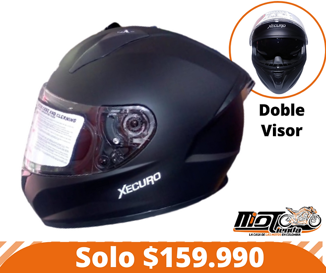 Casco Integral Xecuro doble Visor