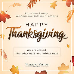 Thanksgiving Waring Vision Institute
