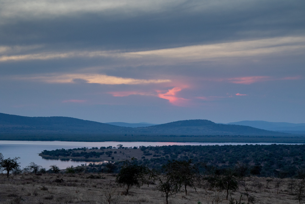 sunset over Akagera National Park
