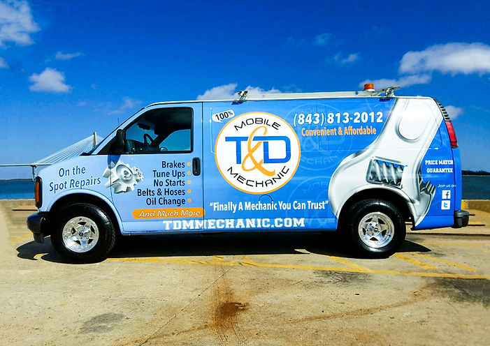 Charleston Van Wrap Design