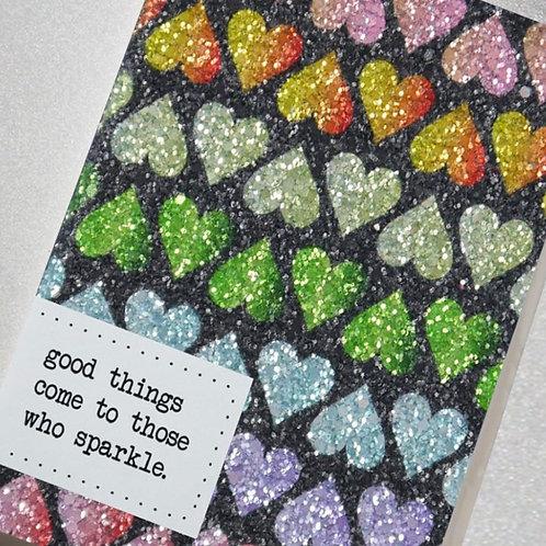 A6 Glittery Notebooks