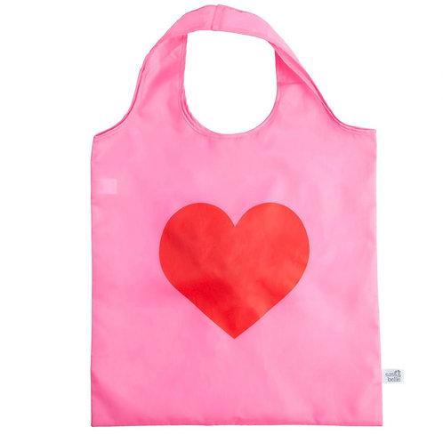 Love Heart Foldable Shopping Bags