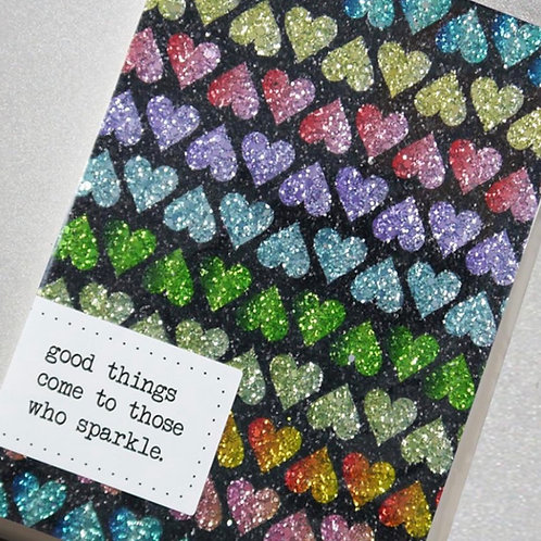 A5 Glitter Notebooks