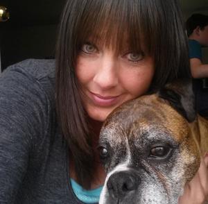 Terri and her beloved pet.
