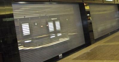 Metro Door Rolling Steel Grille - Perforated