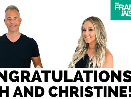 Congratulations Rich and Christine!