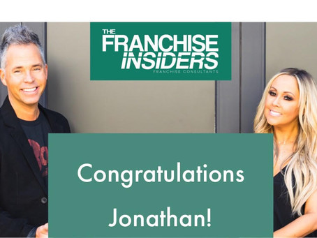 Congratulations To Our Great Client Jonathan On Becoming A Franchise Owner!