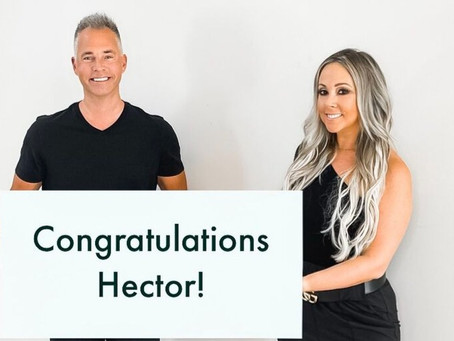 We are so thrilled this Monday morning to be celebrating our client Hector!