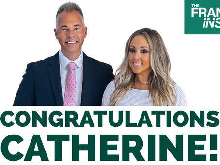 Congratulations Catherine!