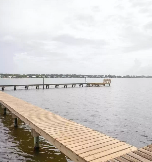 Newly updated walking dock and pier for fishing and relaxing!