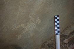 Caverna La Gruta - Petroglifo Motivo Chamán Sentado