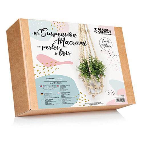 Kit Suspension Perles bois et Macramé