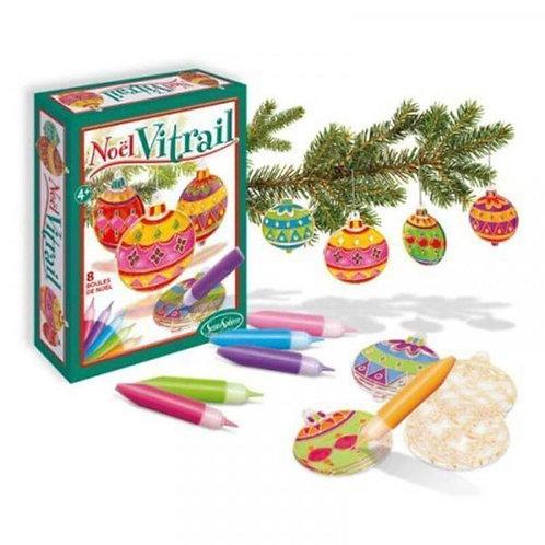 Boules de Noël Vitrail