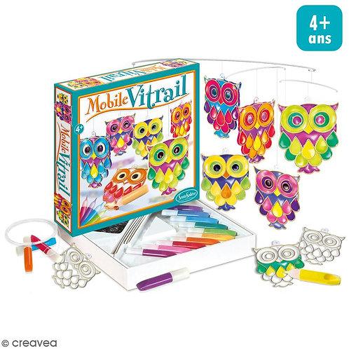 Kit mobile vitrail Hiboux