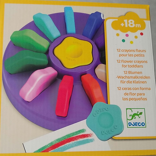 Crayons fleurs pour les petits