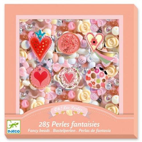 Perles fantaisies 285 perles Djeco 6-10 ans