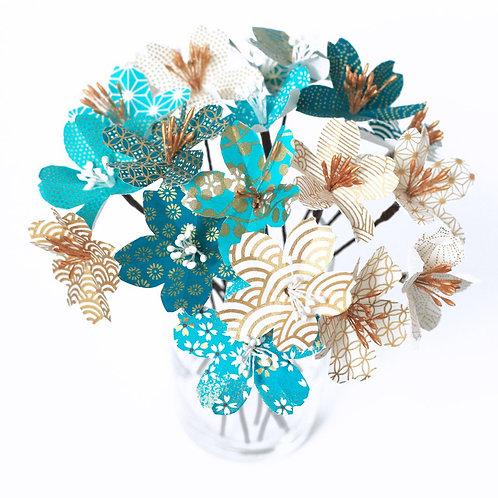 Kit Fleurs de Cerisiers en papier (Origami)