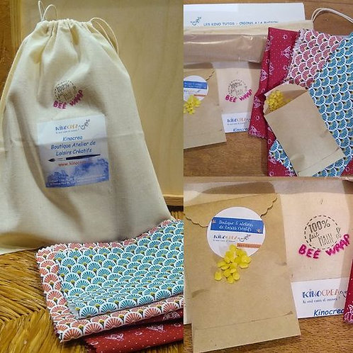 Kit Bee Wrap, emballages éco-responsables DIY