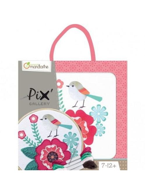 Kit Broderie Pix Gallery Oiseau ou Papillon