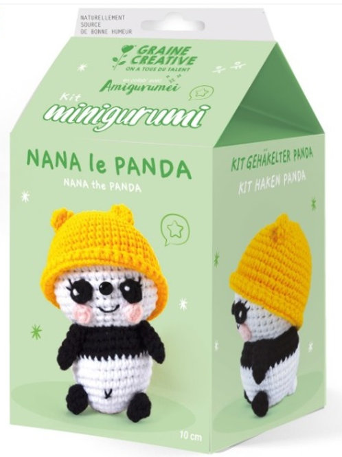Kit Crochet Amigurumi - Panda ou Dino