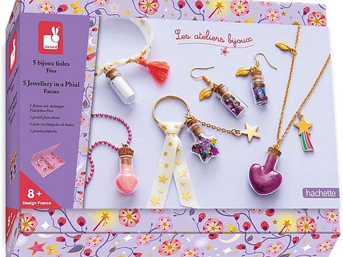 Janod- Kit Créatif-Bijoux Fioles de Fées, Janod