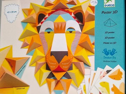 Poster 3D Roi Lion ou Amazonie