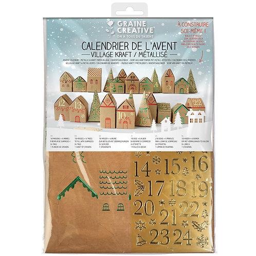 Kit calendrier de l'avent Village Kraft