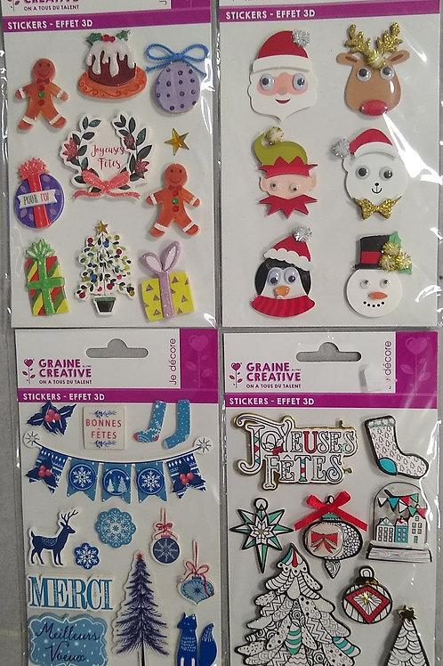 Stickers 3D Noel