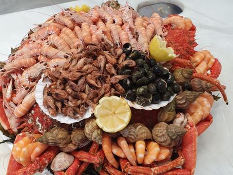 commande de plateau de fruits de mer organisée par le service conciergerie Bulle d'air à Concarneau
