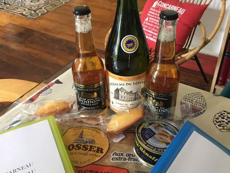 Des produits d'accueil pour accueillir nos convives à Concarneau