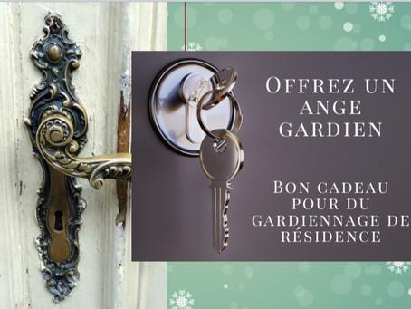 Offrez un cadeau très original pour ces fêtes de Noël si particulières: du gardiennage de résidences