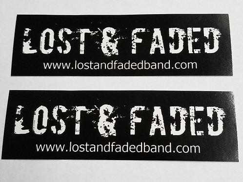 Lost & Faded - Black Sticker