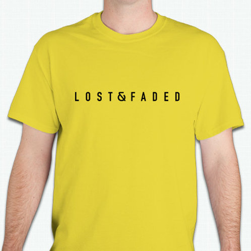 """Lost & Faded """"Searching Shorelines"""" Yellow T-Shirt"""