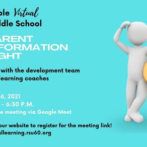 Parent Info Night 5/6/21 at 6:00pm