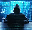 Hacking and malware concept. Hacker usin