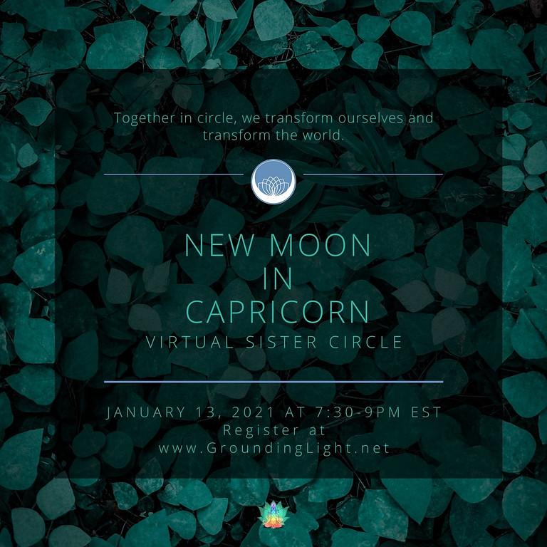 Capricorn New Moon Circle