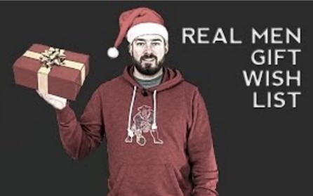 Real Men's Gift List for Christmas/Holidays/Black Friday 2015