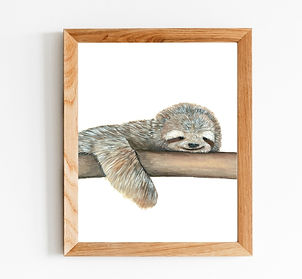 Sleepy Sloth Watercolour Print.jpg