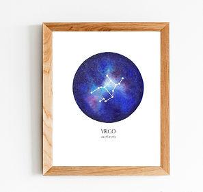 Virgo Zodiac Constellation Print.jpg