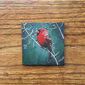Cardinal Painting Canvas Magnet .jpg