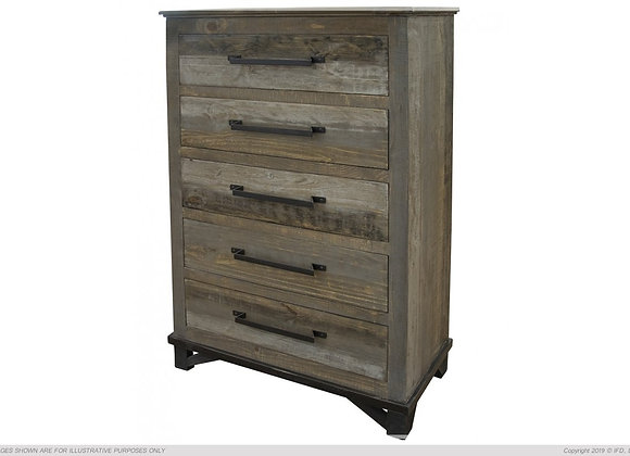 Loft Brown 5 Drawer Chest