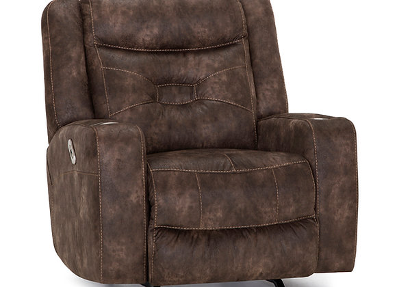 Quantum Power Rocker Recliner w/QI Slot (Brown)