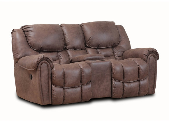 Mocha Power Console Loveseat