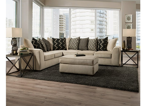 Fawn LSF Corner Sofa and RSF Sofa-Sectional (Ottoman sold separately)
