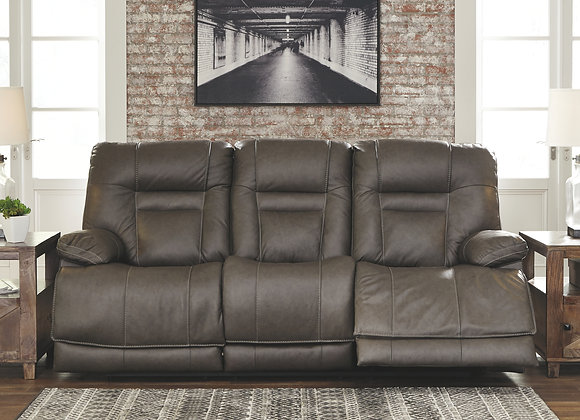 Wurstrow Pwr Reclining Sofa with Adjustable Headrest