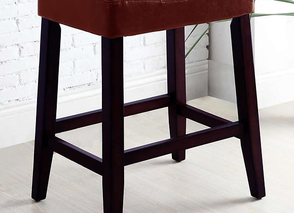 Kent Red Saddle Bar Stool 24""