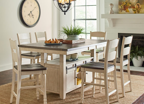 Madison County High/Low 7pc Dining Table Set