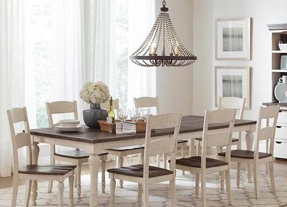 Madison County Rectangle Extension Table 9pc Set